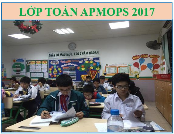 Lớp APMOPS 2017 - Toán Tiếng Anh ôn thi Toán Châu Á Thái Bình Dương 2017