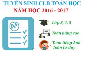 Thông báo tuyển sinh đợt 2 năm học 2016 - 2017 các lớp tiểu học
