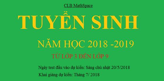 Số báo danh, phòng kiểm tra xếp lớp năm 2018-2019