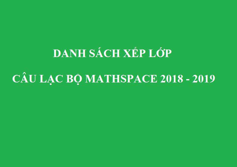 THÔNG BÁO DANH SÁCH XẾP LỚP  NĂM HỌC 2018 - 2019 ĐỢT 1