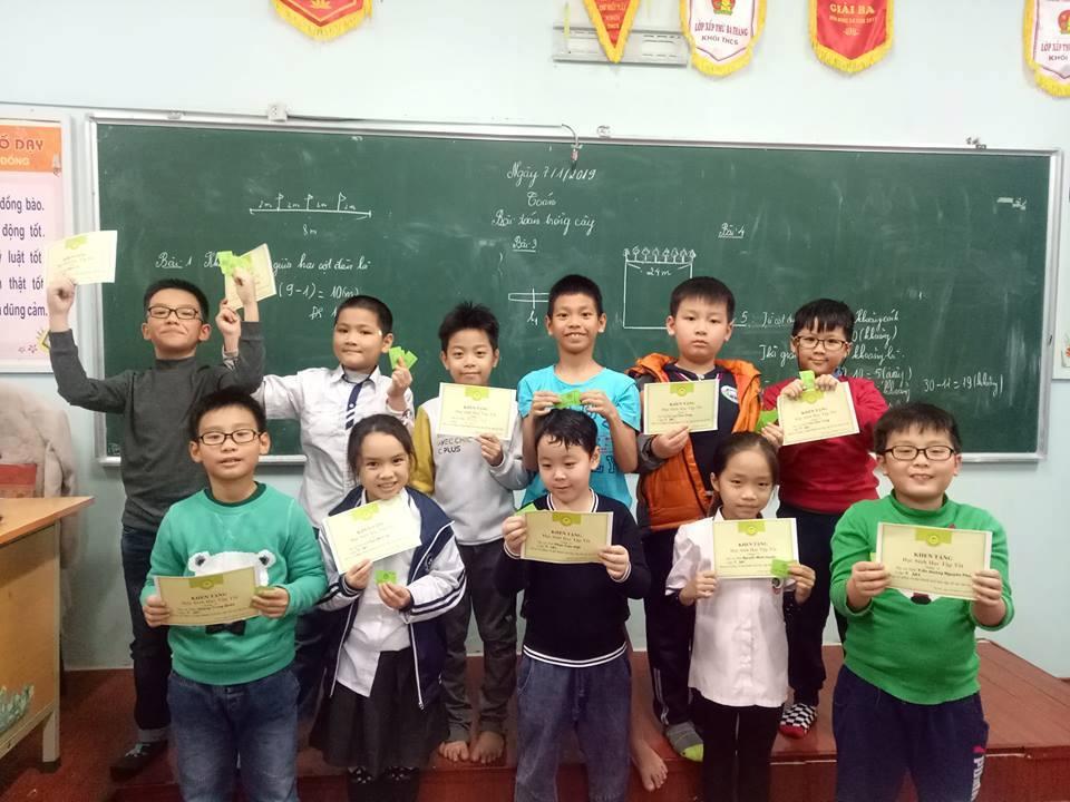 Chúc mừng các con học học sinh lớp 3 đã đạt điểm cao trong chuyên đề 5