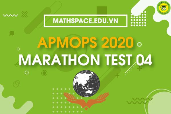 APMOPS 2020 MARATHON TEST 04