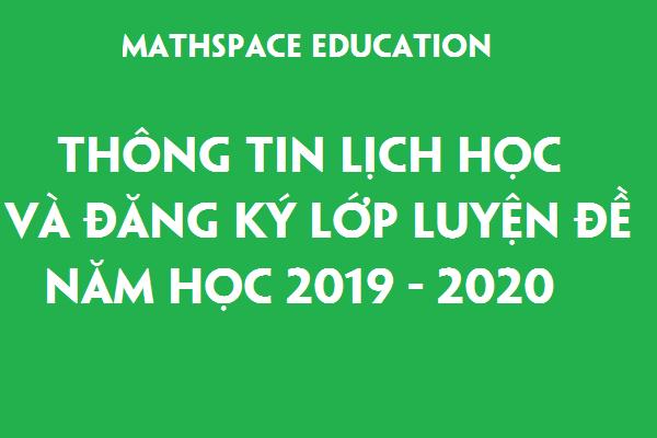 Thông báo lịch học và đăng ký lớp luyện đề khối 5 năm học 2019-2020